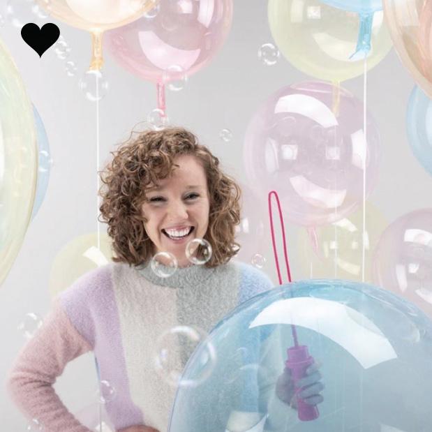 Orbz folieballon clearz crystal lichtroze (40 cm)-3