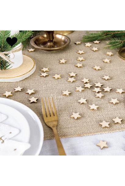 Houten confetti stars (50 st)
