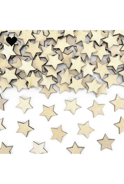 Houten confetti stars (50st)