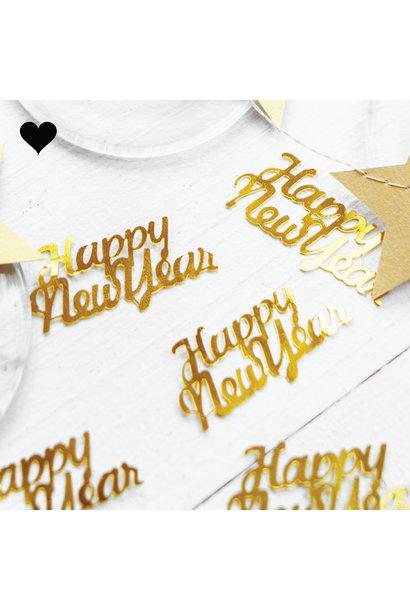 Tafelconfetti Happy New Year goud