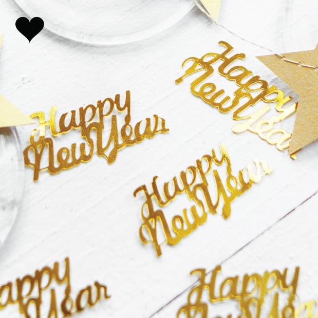 Tafelconfetti Happy New Year goud-1