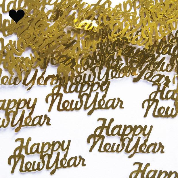 Tafelconfetti Happy New Year goud-2