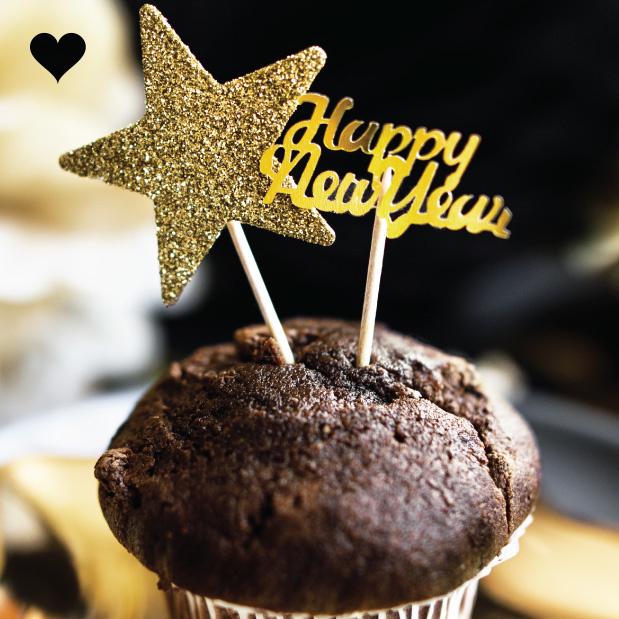 Tafelconfetti Happy New Year goud-3