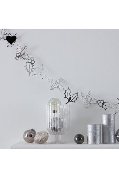 Slinger kerstblaadjes zilver Silver Glitter (2 M) - Ginger Ray