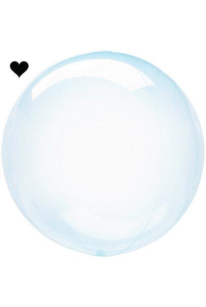 Orbz folieballon clearz crystal lichtblauw (40 cm)
