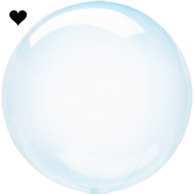 Orbz folieballon clearz crystal lichtblauw (40 cm)-1