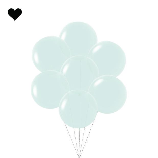 Ballon Pastel Mat Mint (60cm)-2