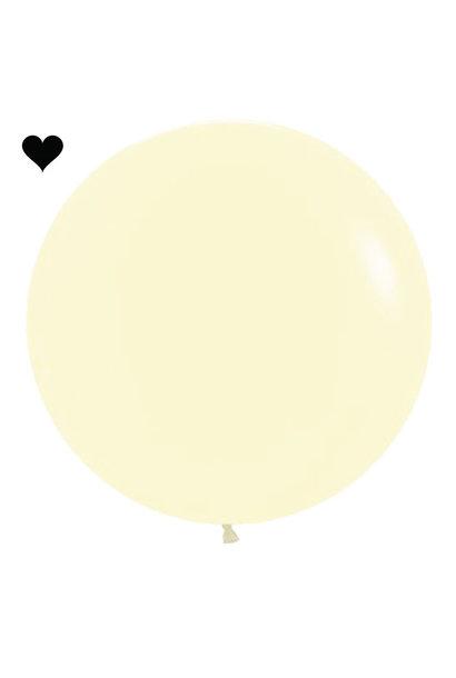 Ballon Pastel Mat Geel (60cm)