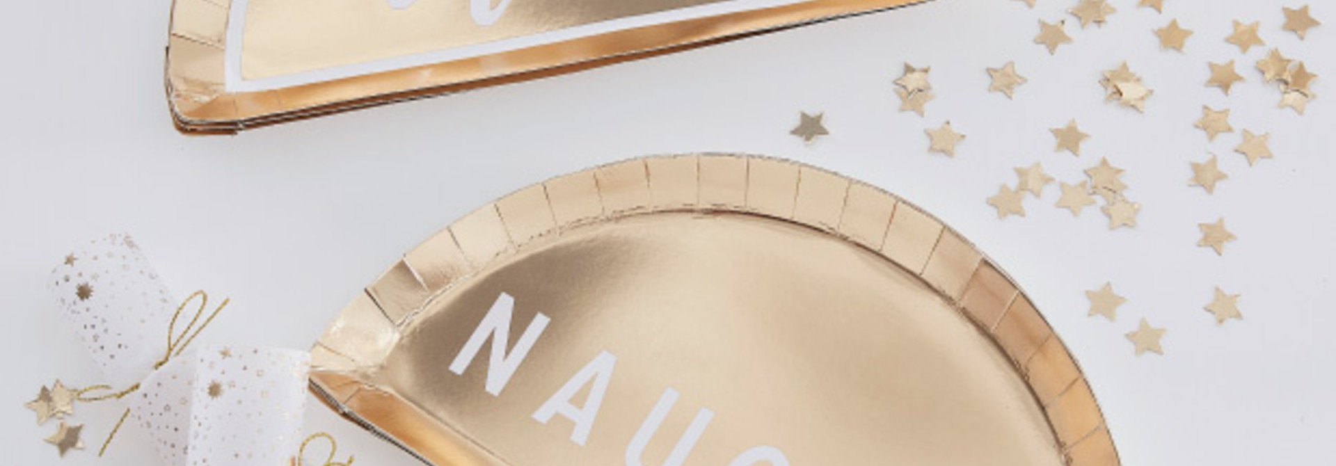 Bordjes nice or naughty Gold Glitter (8st) Ringer Ray