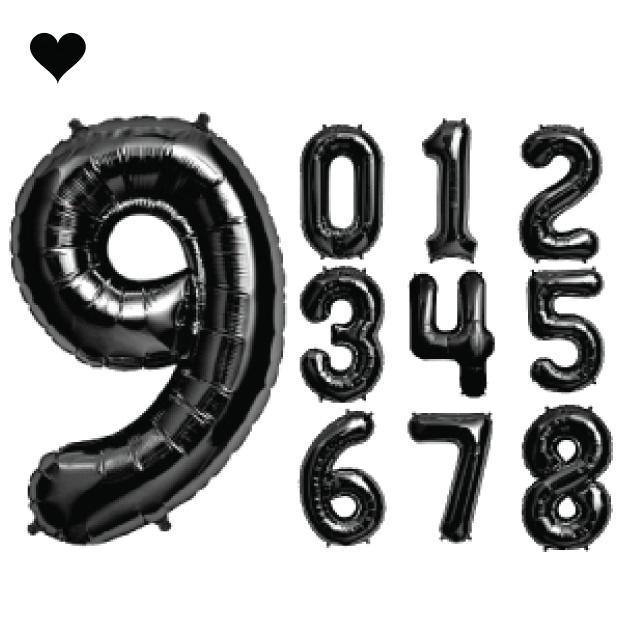 Folieballon cijfer 0 (102cm) - zwart-4