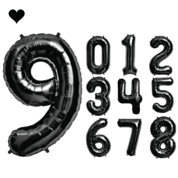 Folieballon cijfer 7 (102cm) - zwart-4