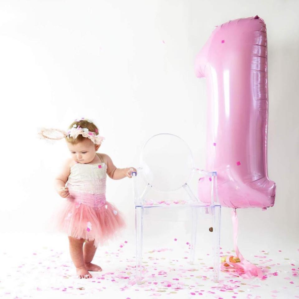 XL folieballon 8 roze (102 cm)-2