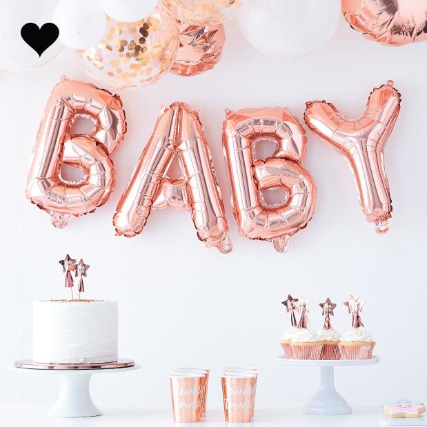 Folieballon baby roségoud Twinkle Twinkle - Ginger Ray-2