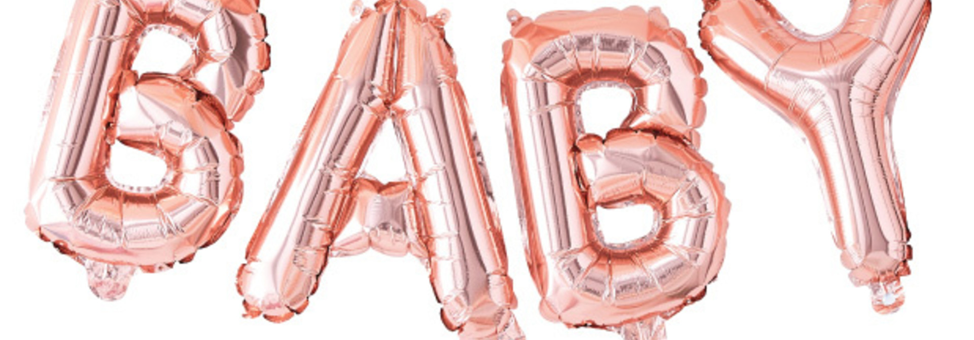 Folieballon baby roségoud Twinkle Twinkle - Ginger Ray