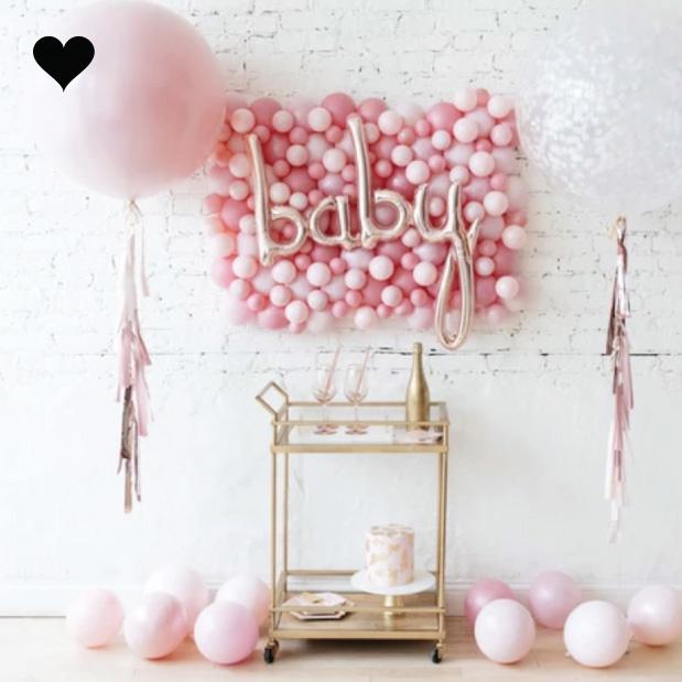 Folieballon script baby roségoud (86 cm)-2