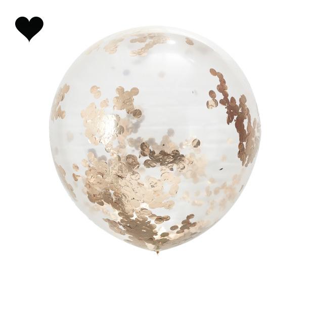 Confetti ballonnen roségoud xl (3 st) Ginger Ray-2