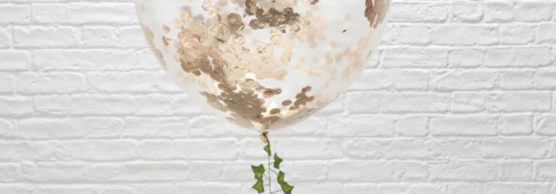 Confetti ballonnen roségoud xl (3 st) Ginger Ray