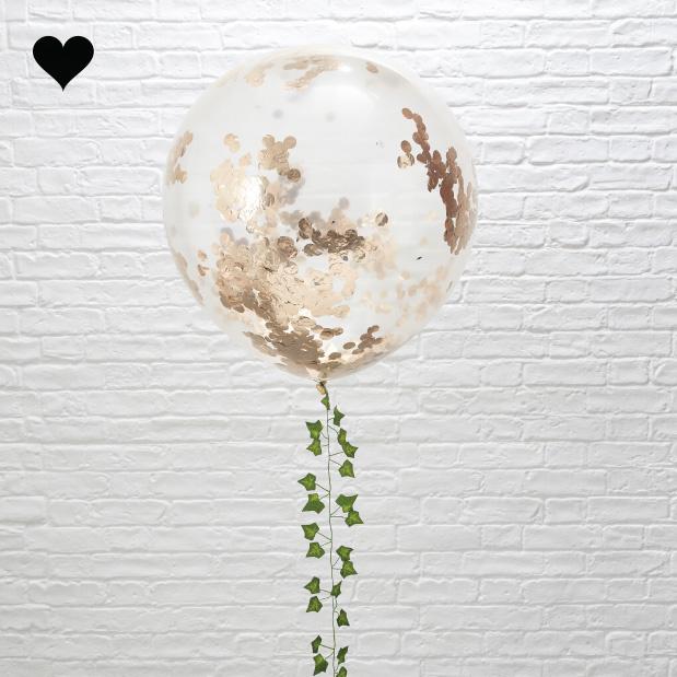 Confetti ballonnen roségoud xl (3 st) Ginger Ray-1