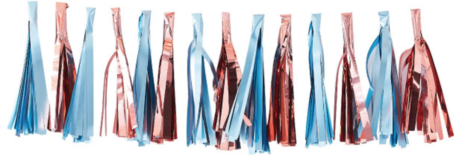 Tasselslinger lichtblauw roségoud Twinkle Twinkle - Ginger Ray
