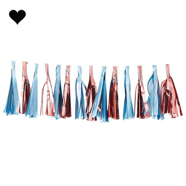 Tasselslinger lichtblauw roségoud Twinkle Twinkle - Ginger Ray-1