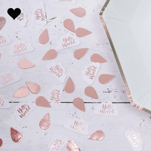 Tafelconfetti roségoud Hello World Ginger Ray-1