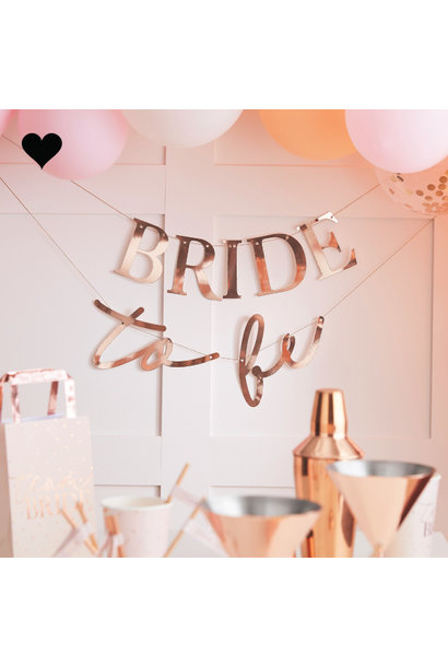 Slinger Bride To Be Blush Hen Ginger Ray