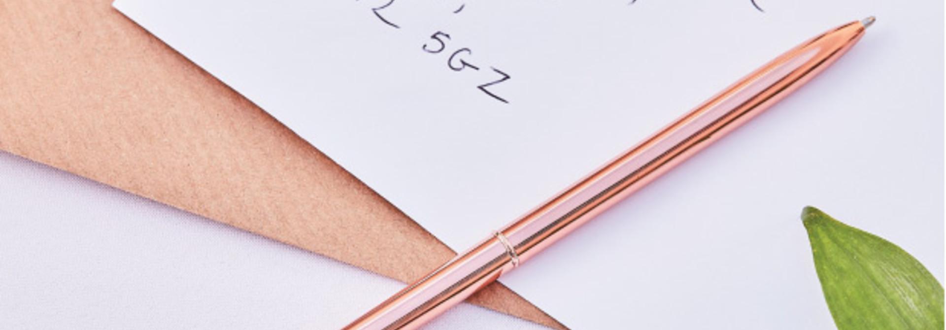 Pen roségoud Botanical Wedding Ginger Ray