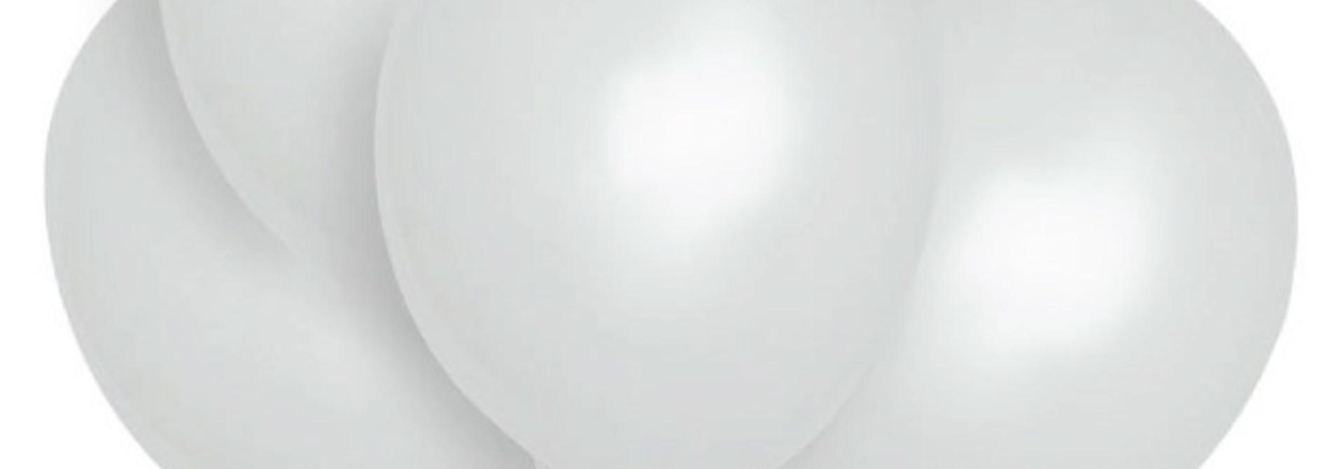 Ballonnen wit 30 cm (10st)