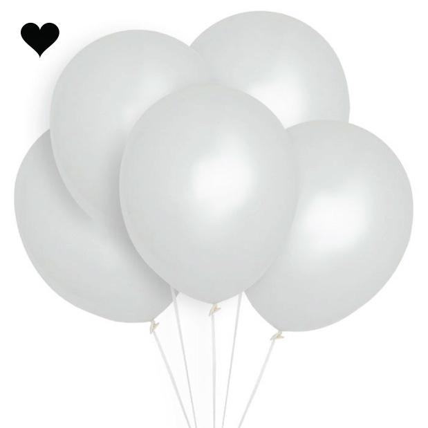 Ballonnen wit 30 cm (10st)-1