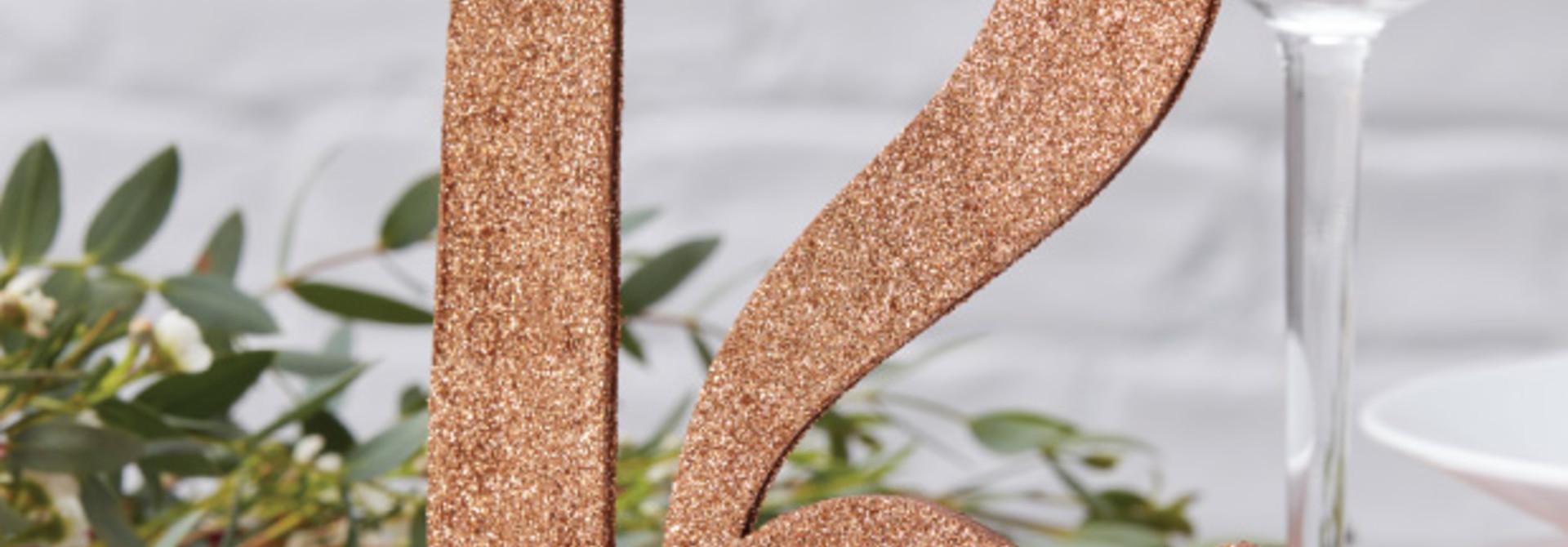 Roségouden tafelnummers 1-12 beautiful botanics Ginger Ray
