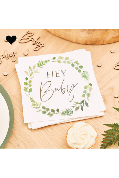 Servetten Hey Baby Botanical Baby Ginger Ray