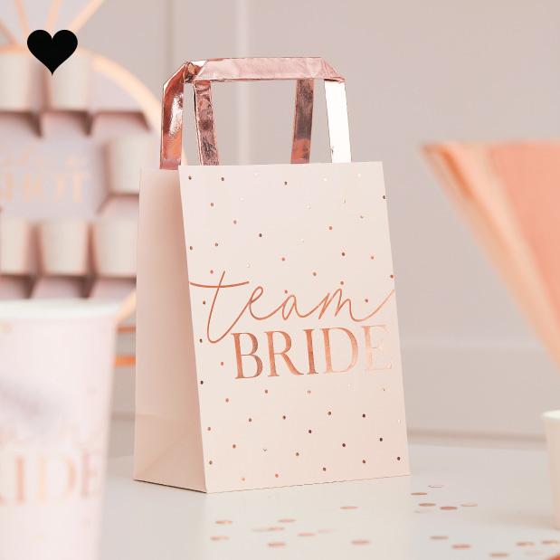 Tasjes Team Bride Blush Hen (5st) Ginger Ray-1