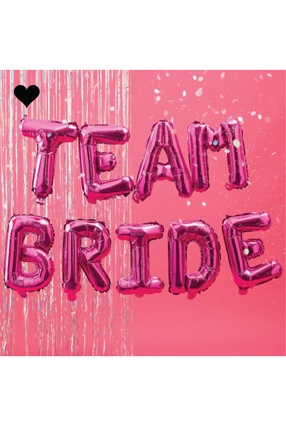 Folieballonnen Team Bride roze Bride Tribe  Ginger Ray