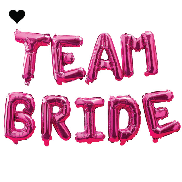 Folieballonnen Team Bride roze Bride Tribe Ginger Ray-2