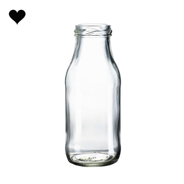 Glazen melkflesje 250 ml-2