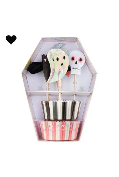 Cupcake kit Halloween (48st) Meri Meri