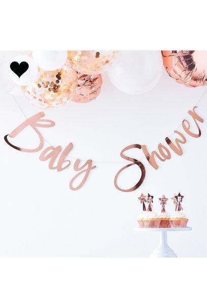 Babyshower slinger roségoud Twinkle Twinkle Ginger Ray