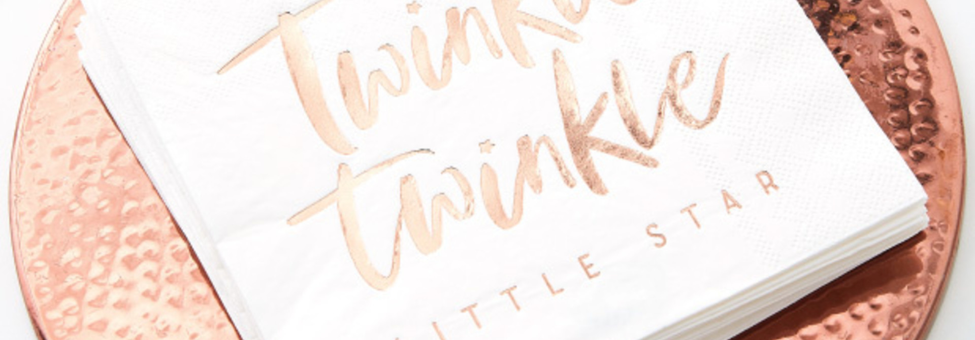 Servetten twinkle twinkle roségoud (16 st) - Ginger Ray