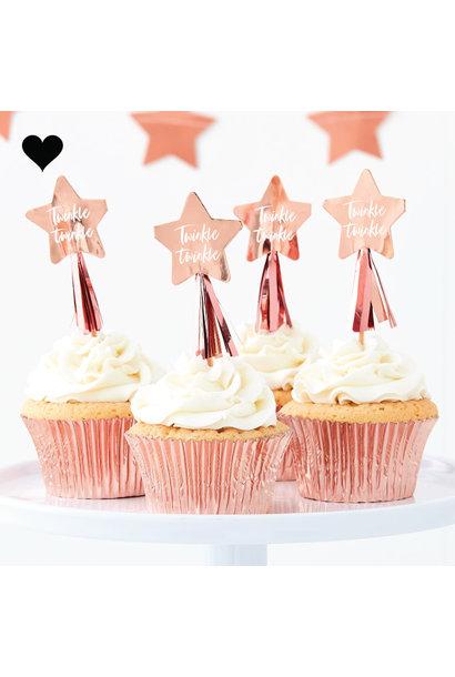 Roségouden sterren prikkers twinkle twinkle (10st) Ginger Ray