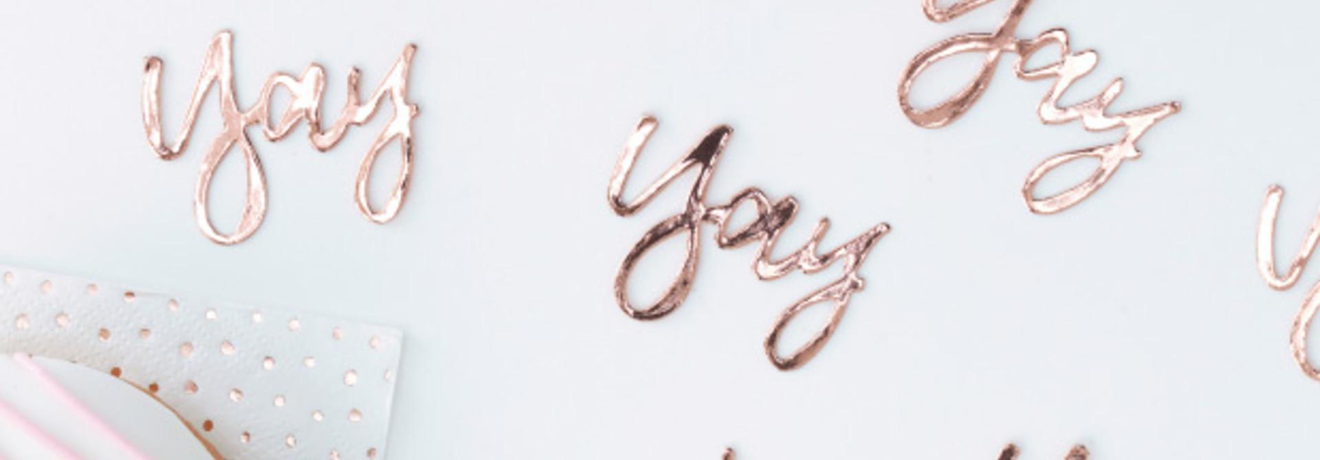 Tafelconfetti Yay roségoud Ginger Ray