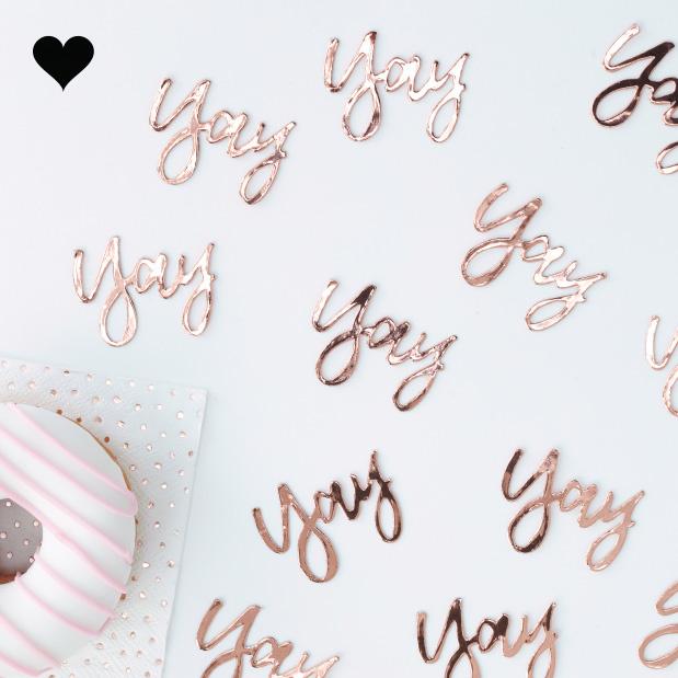 Tafelconfetti Yay roségoud Ginger Ray-1