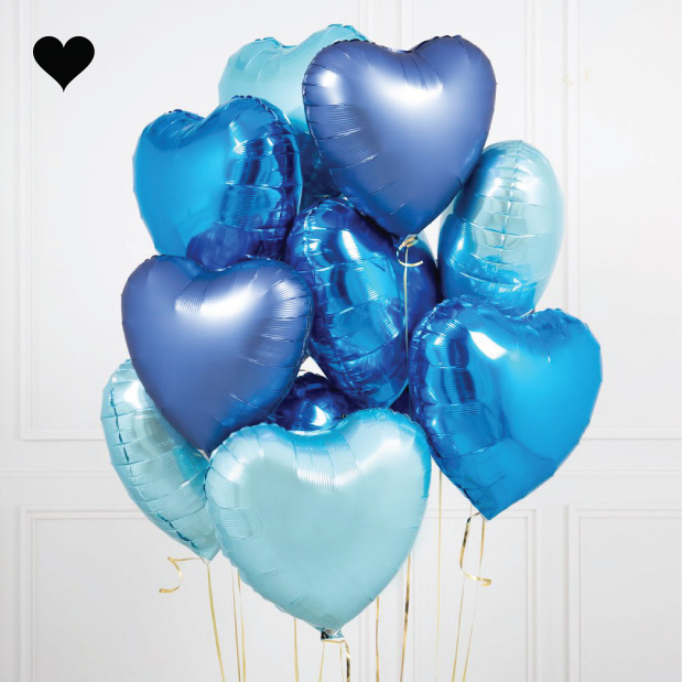Folieballon hart lichtblauw-2