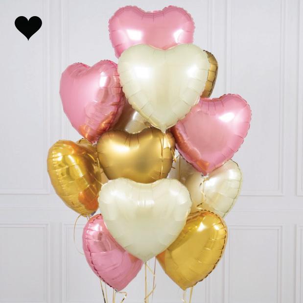 Folieballon hart knalroze-2