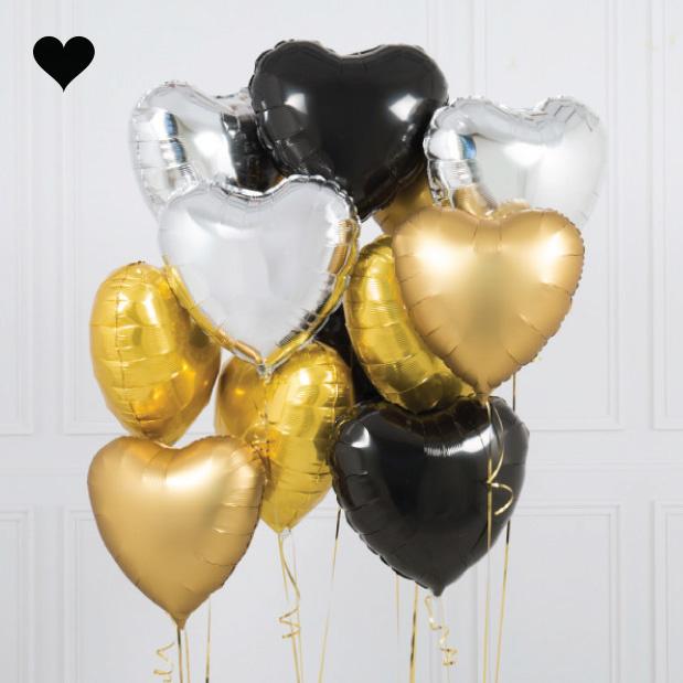 Folieballon hart zilver-2