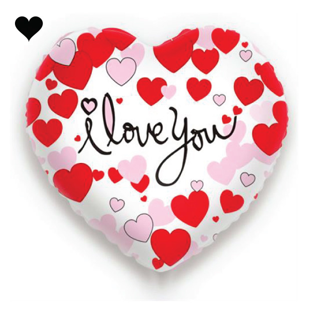 Folieballon hart I Love You-2