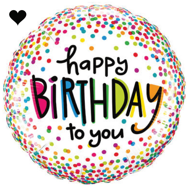Folieballon Happy Birthday Confetti-1