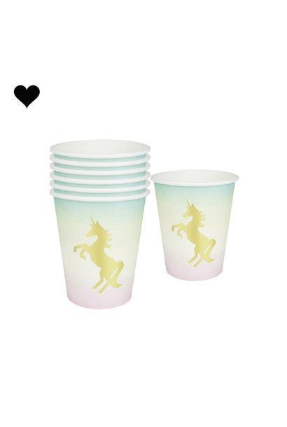 We heart unicorns bekers (12st) Talking Tables