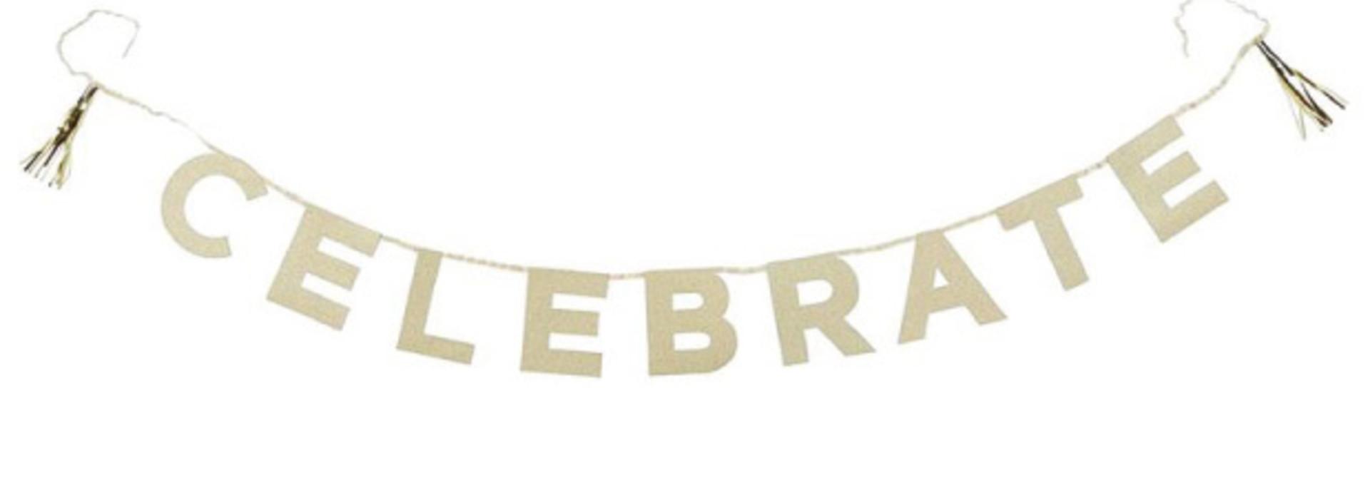 Celebrate  glitter slinger goud (2.5M)