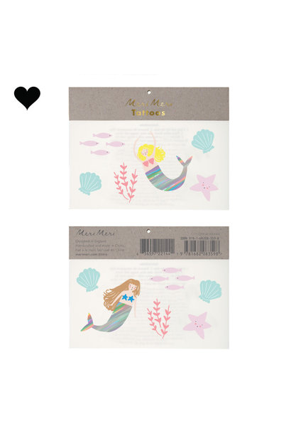 Plaktattoos Let's Be Mermaids (12st) Meri Meri