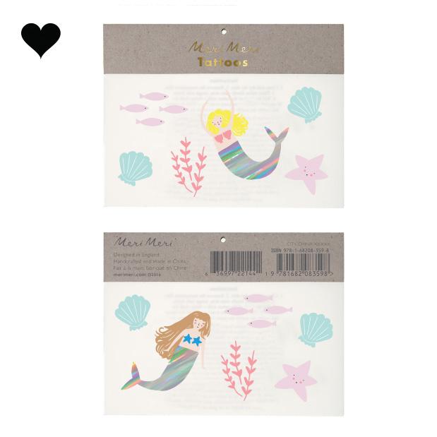 Plaktattoos Let's Be Mermaids (12st) Meri Meri-1